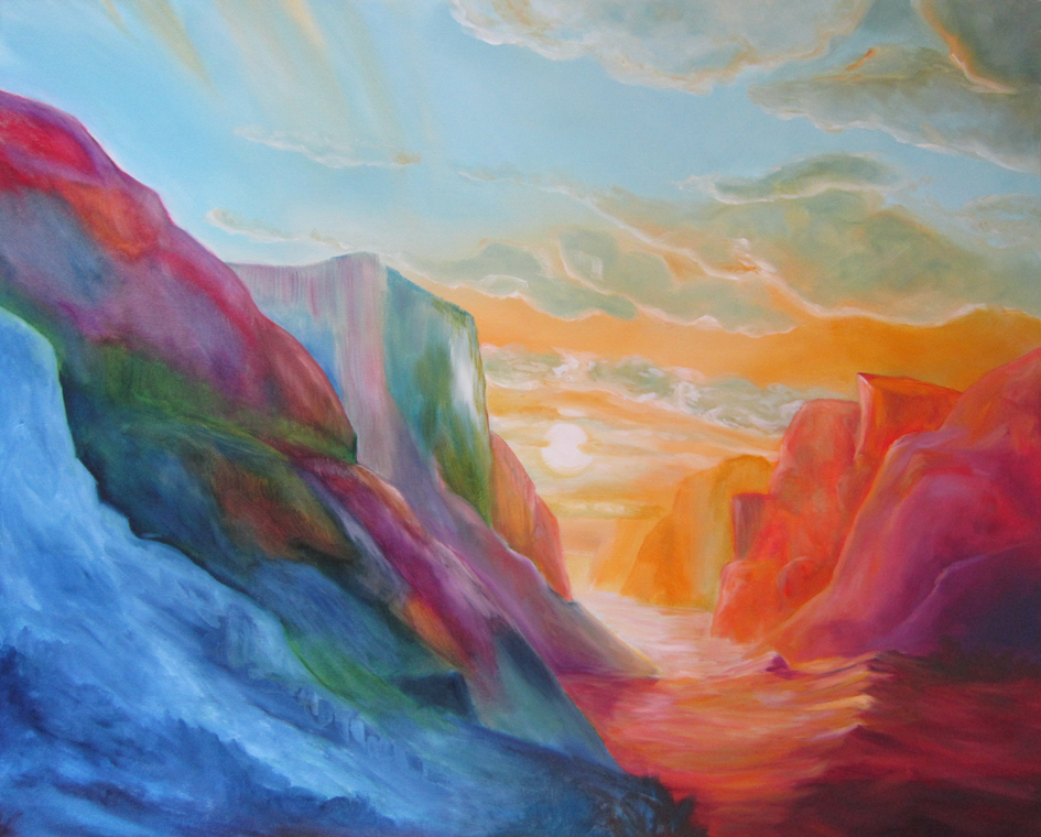 Sunrise, olieverf, 80 x 100, 2012