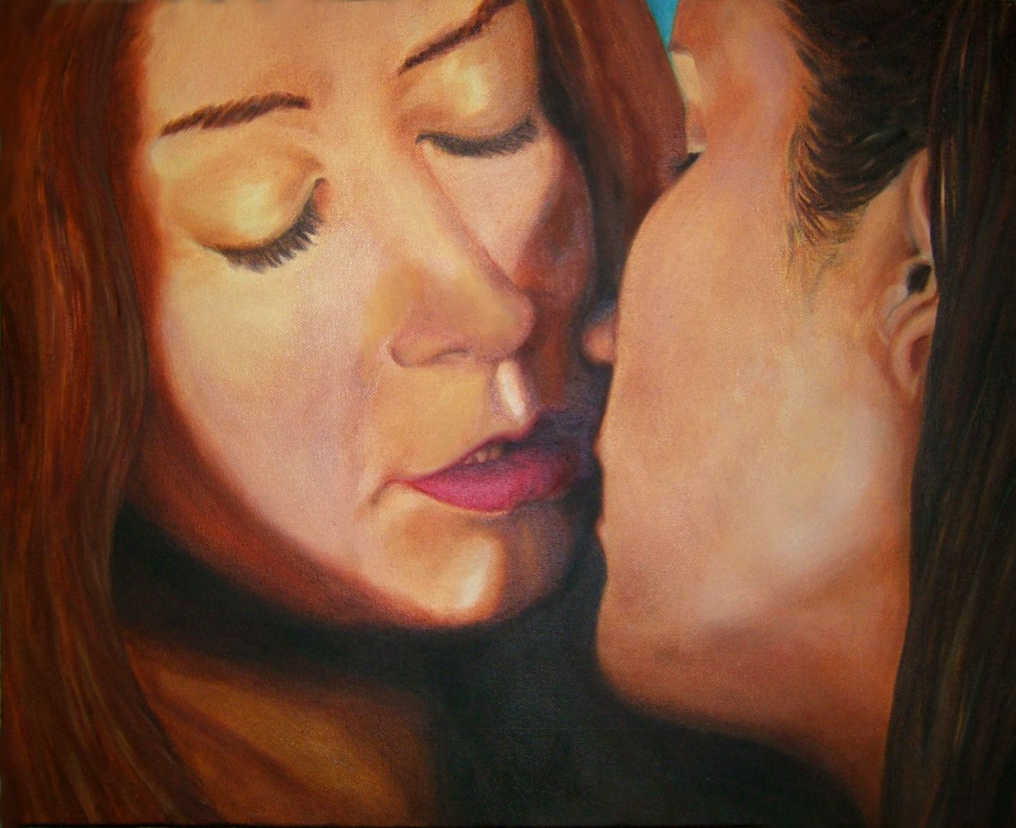 Kiss, olieverf, 40 x 50, 2009