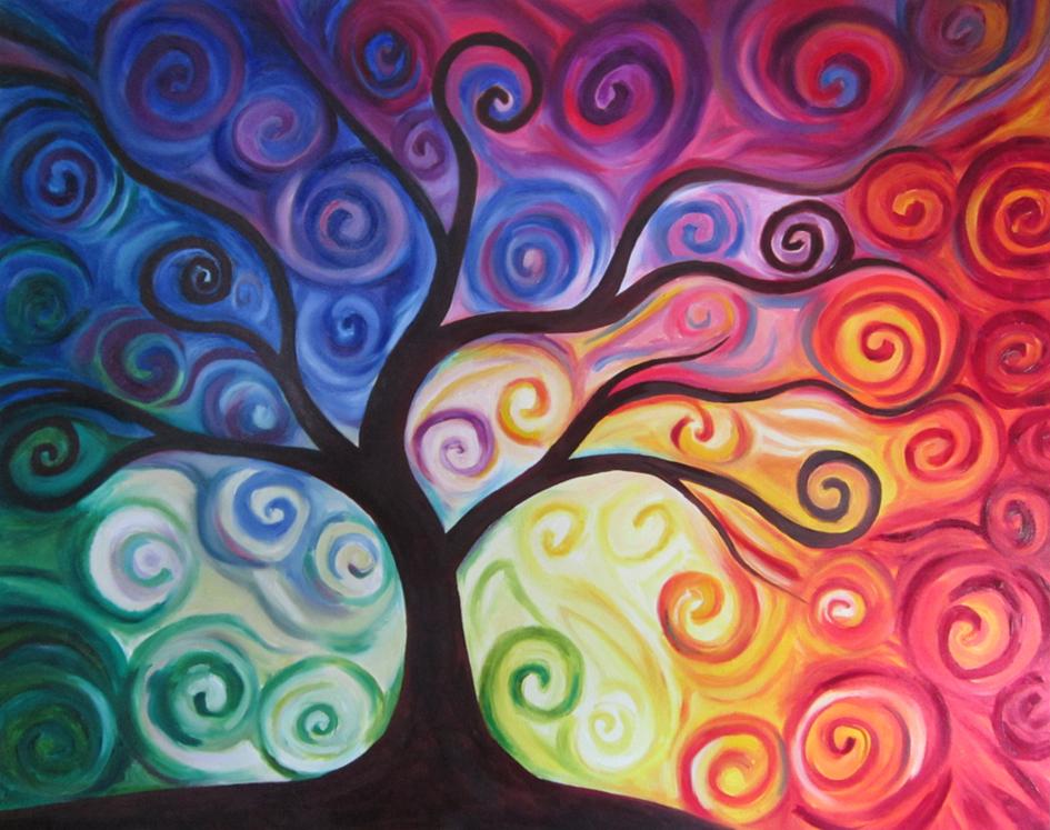 Tree, olieverf, 80 x 100, 2012