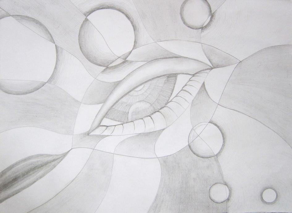 Eye, Grafiet op papier, 21 x 19 cm