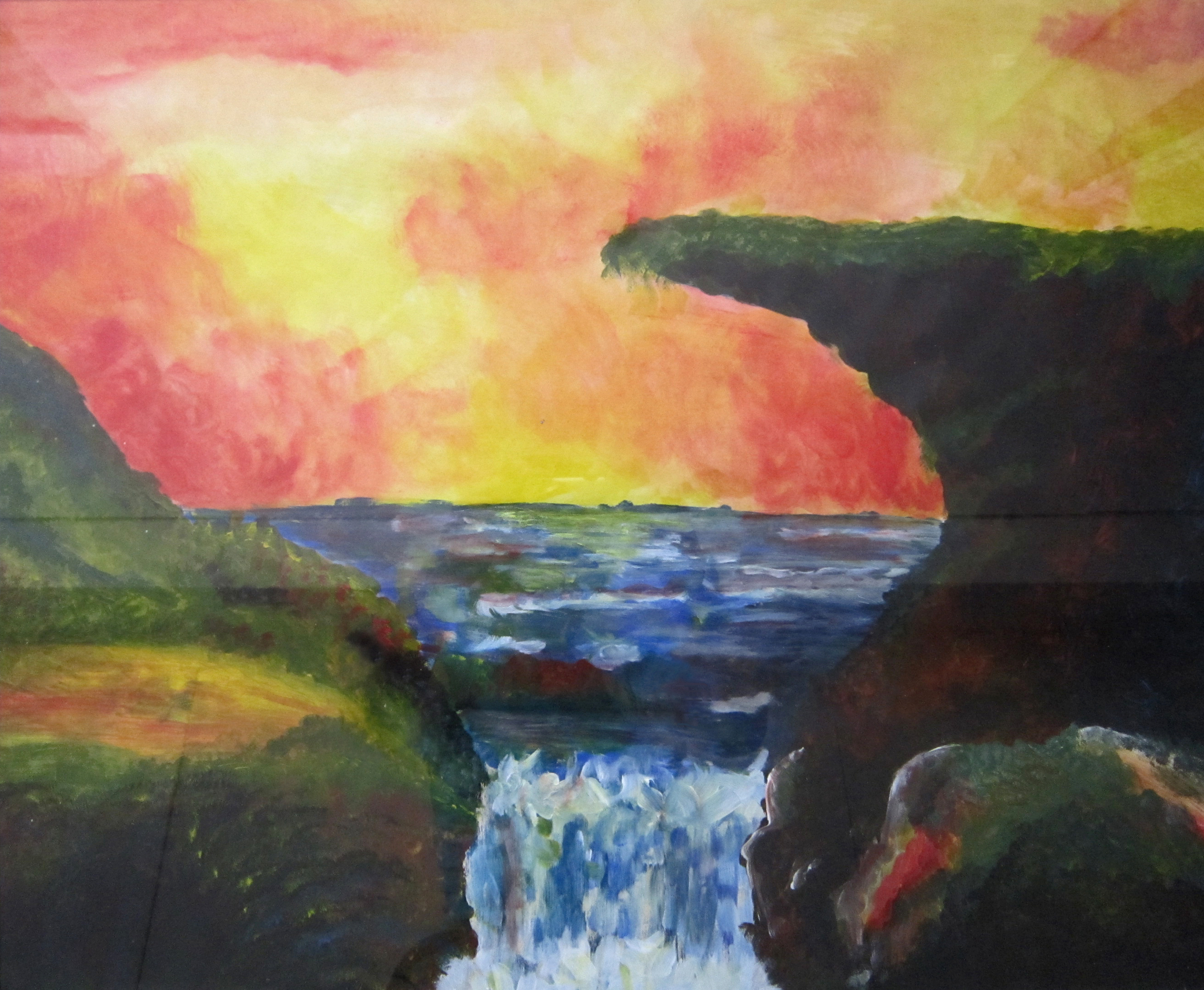 Waterval, acryl, 50 x 70, 2008