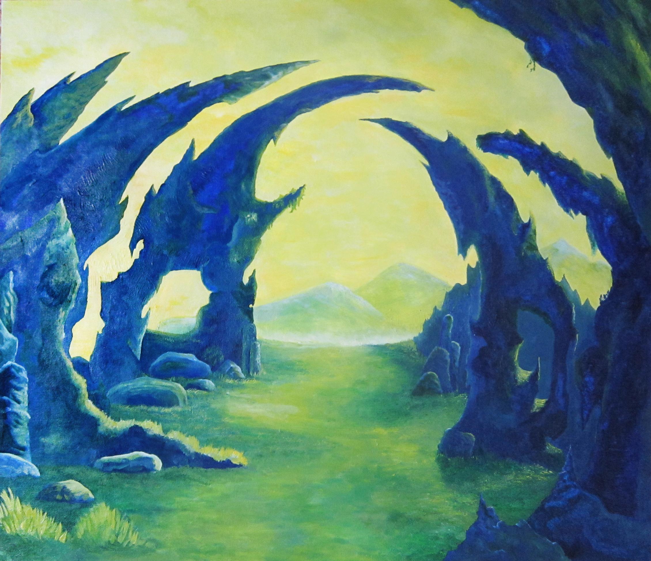 Wasteland, olieverf, 70 x 60, 2000