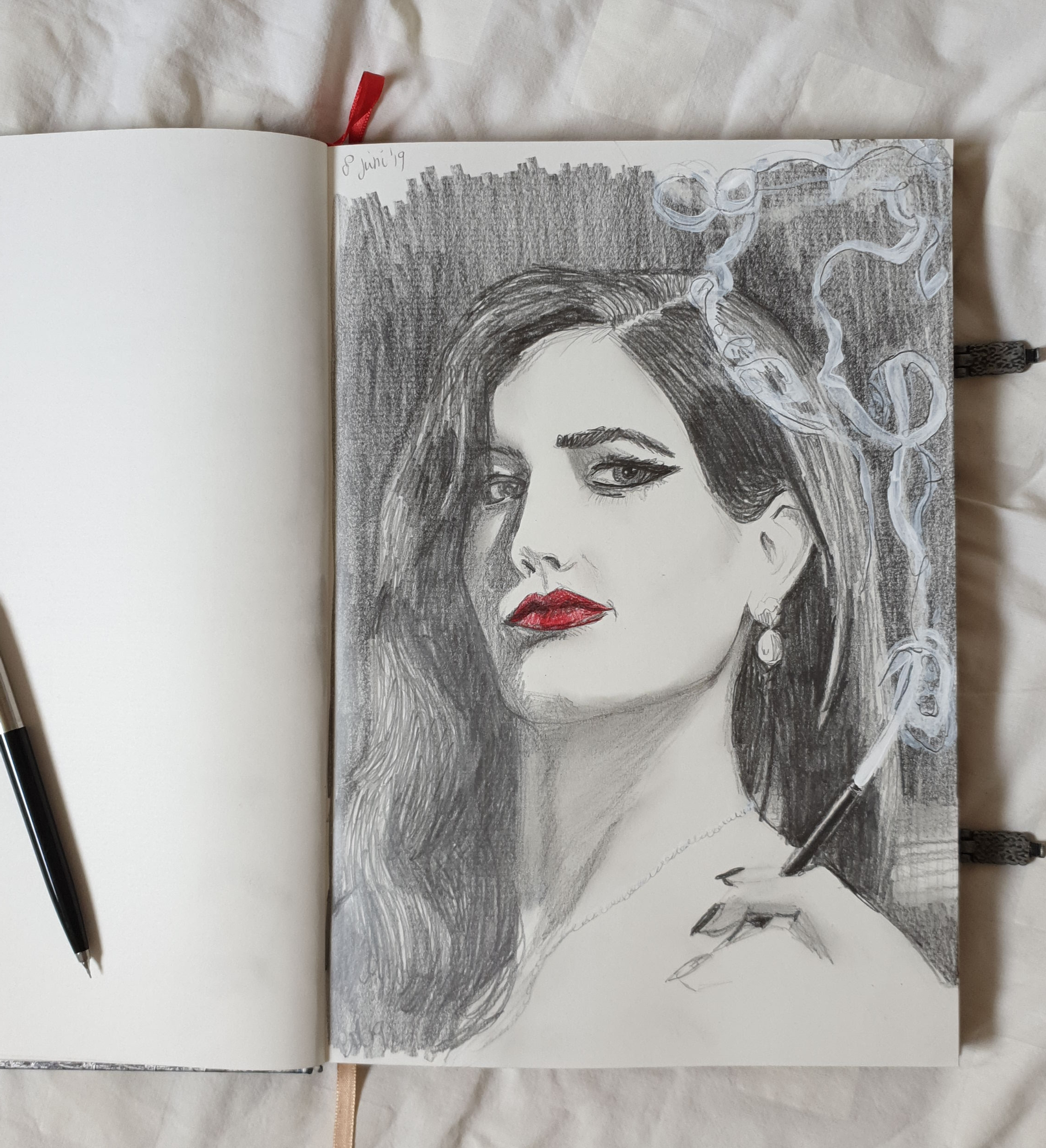 Red Lips serie schets 1
