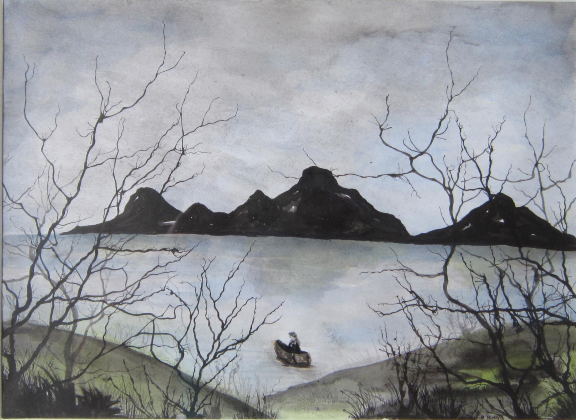 Mist 1, Oost indische inkt, aquarel, 61 x 51, 2012