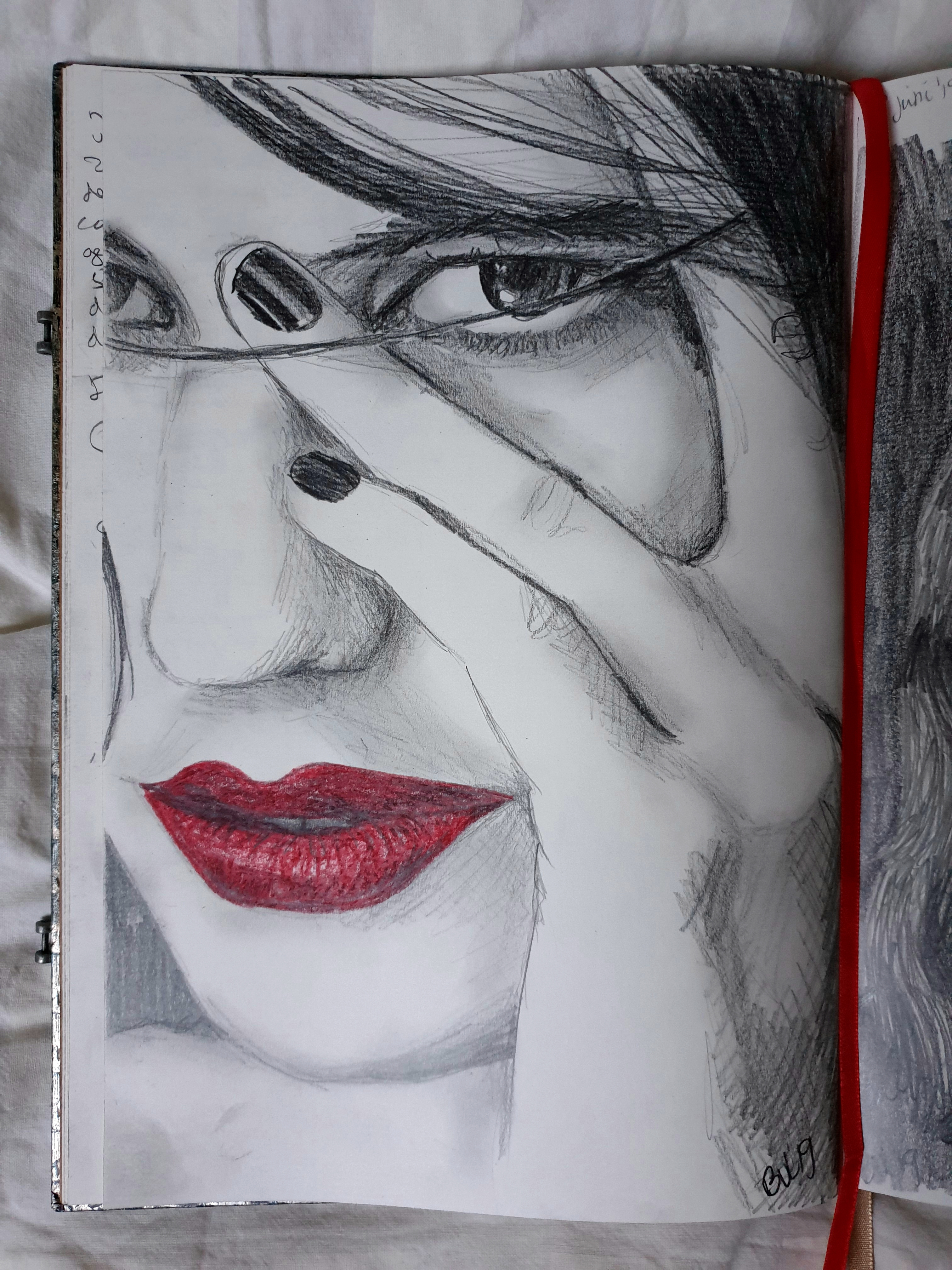 Red Lips serie schets 2
