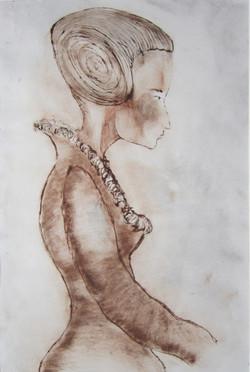 Studie Victorian, Ets, 33 x 43 cm 2000