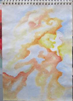 Stains, inkt, aquarel
