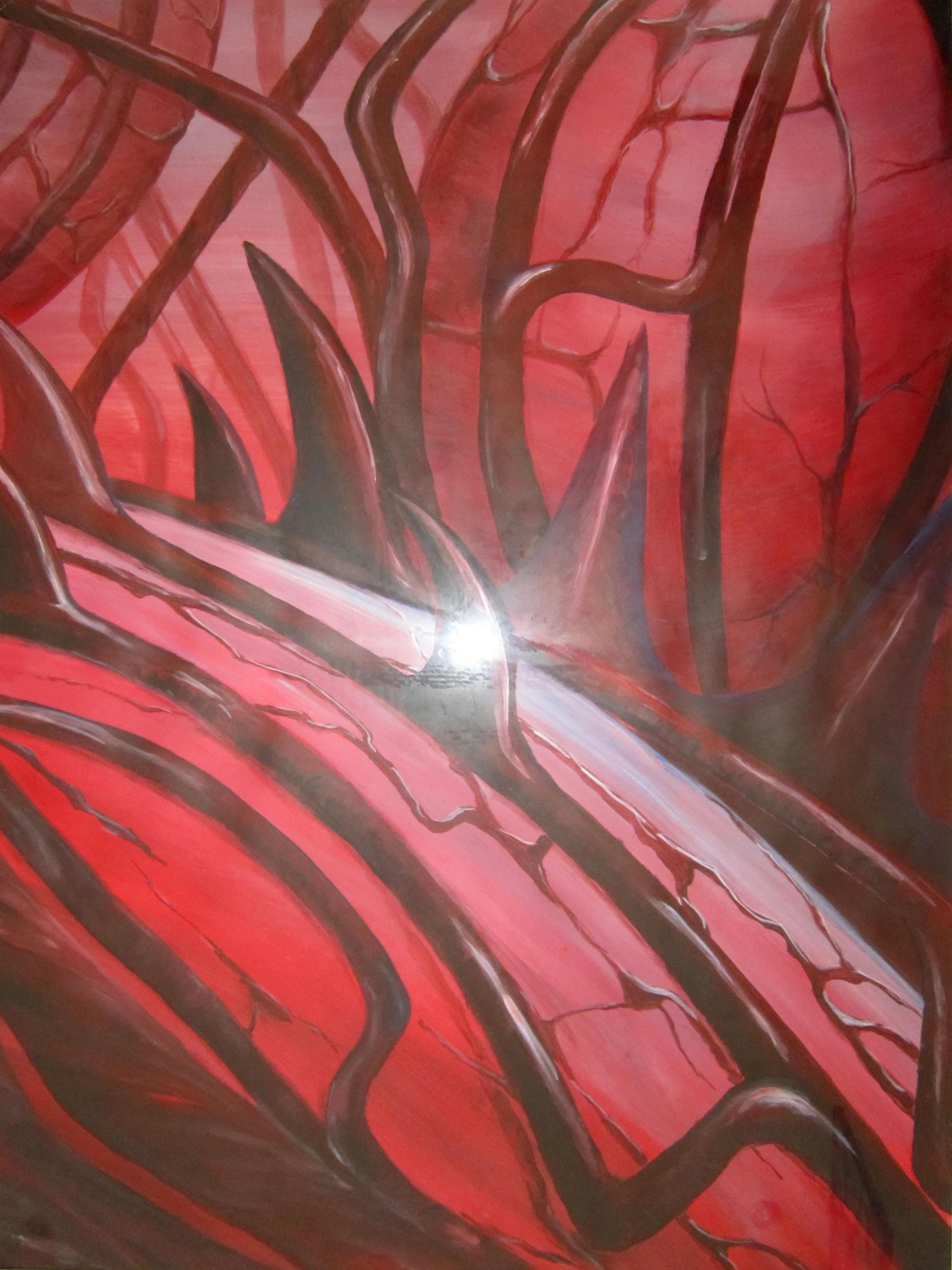 Thorns, acryl, 70 x 100, 2008