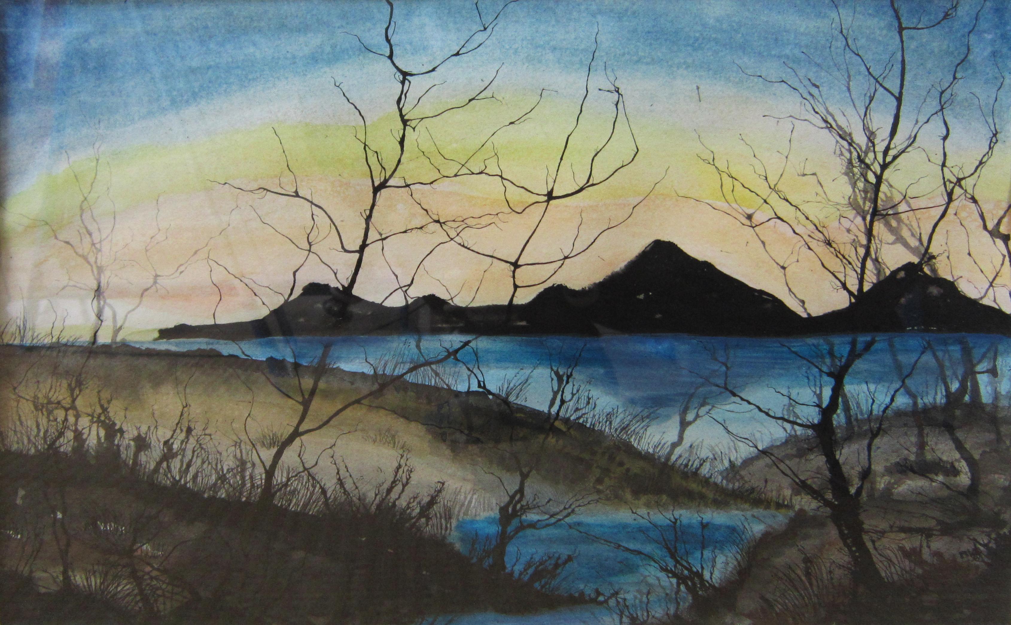 Mist 3, Oostindische inkt, aquarel, 61 x 51, 2012