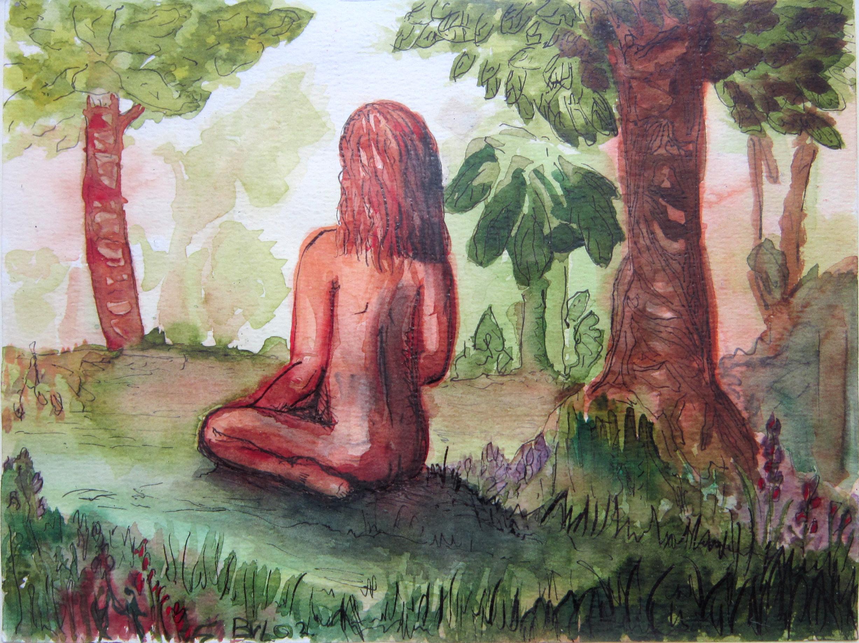 Studie, aqarel, Oostindische inkt, 20 x 15 cm 2002
