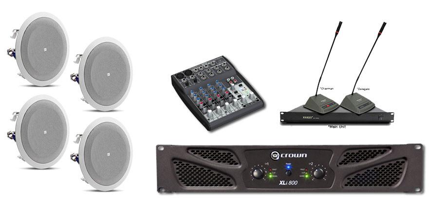 Sound system untuk ruang meeting menggunakan speaker jbl