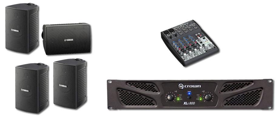 Paket sound system untuk cafe / restoran, toko retail.