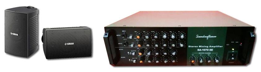 Paket sound system sederhana untuk cafe kecil.