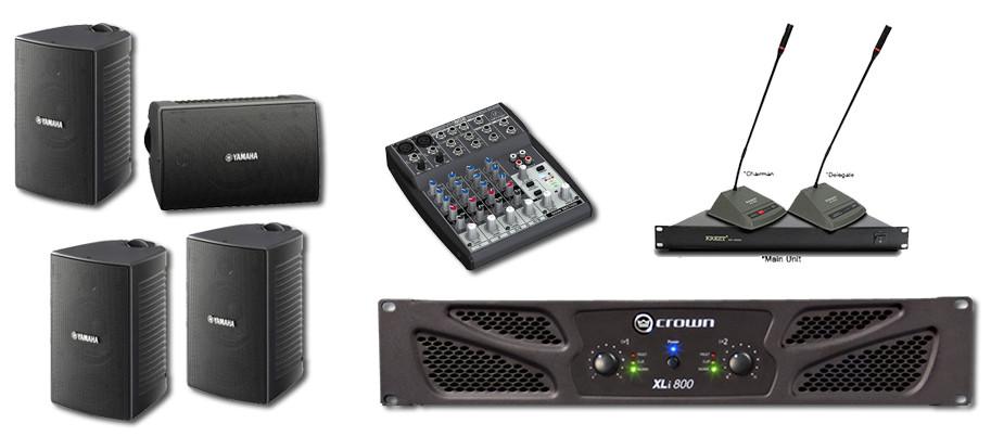 Paket sound system untuk ruang meeting atau conference menggunakan speaker yamaha