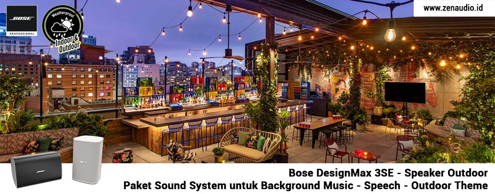 Sound System Roof Top - Outdoor - Bose DesignMax 3SE