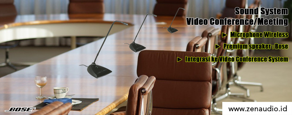 Sound System Meeting - Video Conference - Bose & Microphone Wireless
