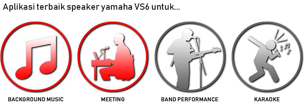 aplikasi terbaik speaker yamaha vs6 adalah untuk background musik dan meeting