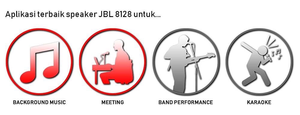 aplikasi terbaik speaker jbl 8128 untuk background music dan meeting