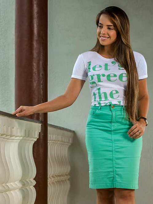 T-shirt Let's green the day