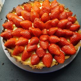 tarte aux fraises du coin