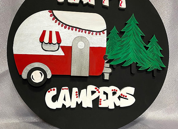 Happy Campers door hanger kit
