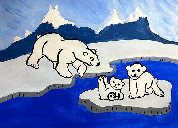 Polar Bear Painting Kit
