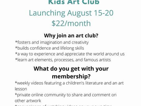 Kids Art Club opening soon!!