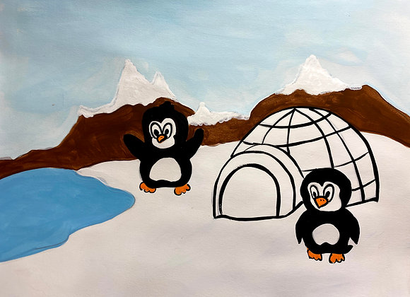 Penguin Painting Kit