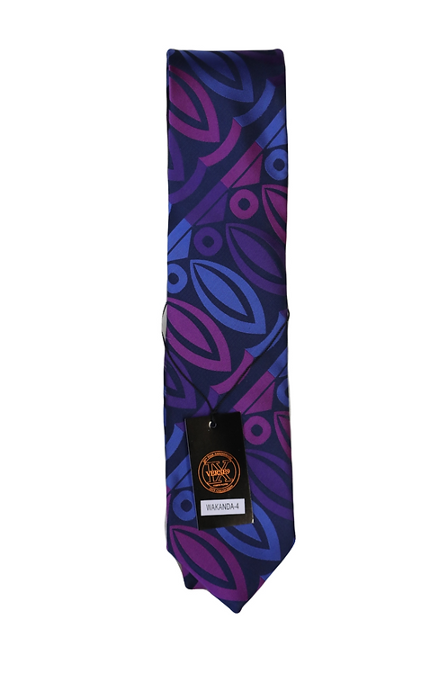 NECKTIE PURPLE/NAVY