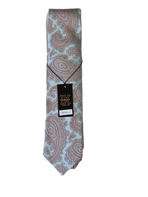 NECKTIE LIGHT BLUE/BROWN