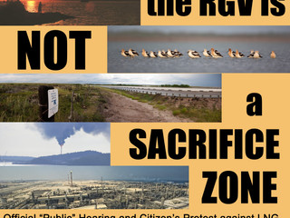IMPORTANT: Tell Washington No LNG in the RGV August 11 in Port Isabel