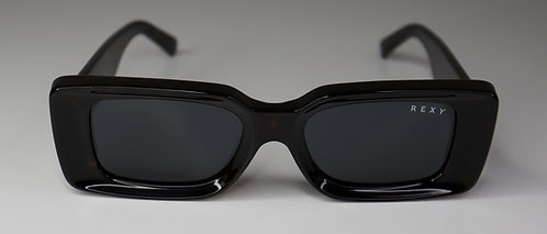 Silk - Thick Frame Sunglasses in Tort with Black Lens