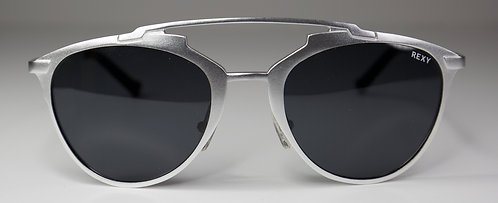 Jessie Silver Frame Sunglasses with Black Lens