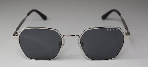 Gangsta - Silver Frame Sunglasses with Black Lens