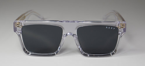 Temptation - Clear Frame Sunglasses with Black Lens & Clear Arms