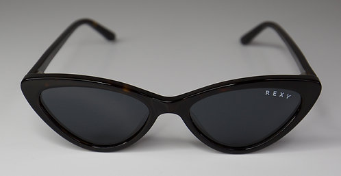 Kiss - Small Cat Eye Sunglasses in Black with Black Lens
