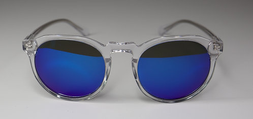 It's a SIN - Clear Frame Sunglasses with Blue Lens