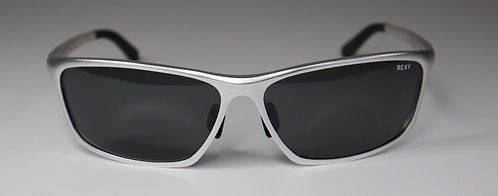 Filter - Silver Frame Sunglasses with Black Lens