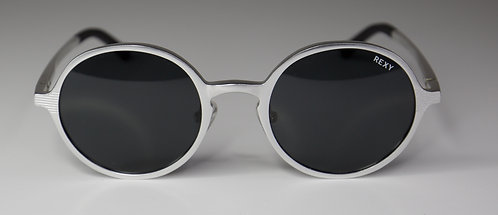 Salty - Silver Frame Sunglasses with Black Lens