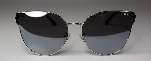 Candy - Cat Eye Silver Frames with Black Lens
