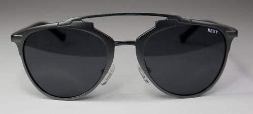 Jessie - Gun Metal Frame Sunglasses with Black Lens