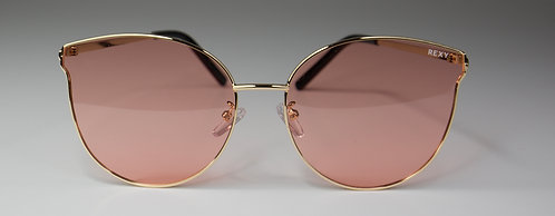 Candy - Cat Eye Gold Frames Sunglasses with Rose Lens