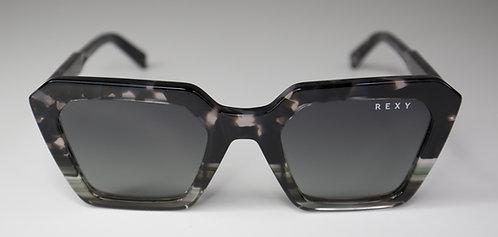 RockStar - Oversized Tort Frame Sunglasses with Black Lens