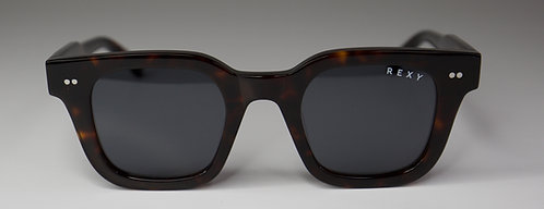 Lucky 7 - Tort Frame Sunglasses with Black Lens