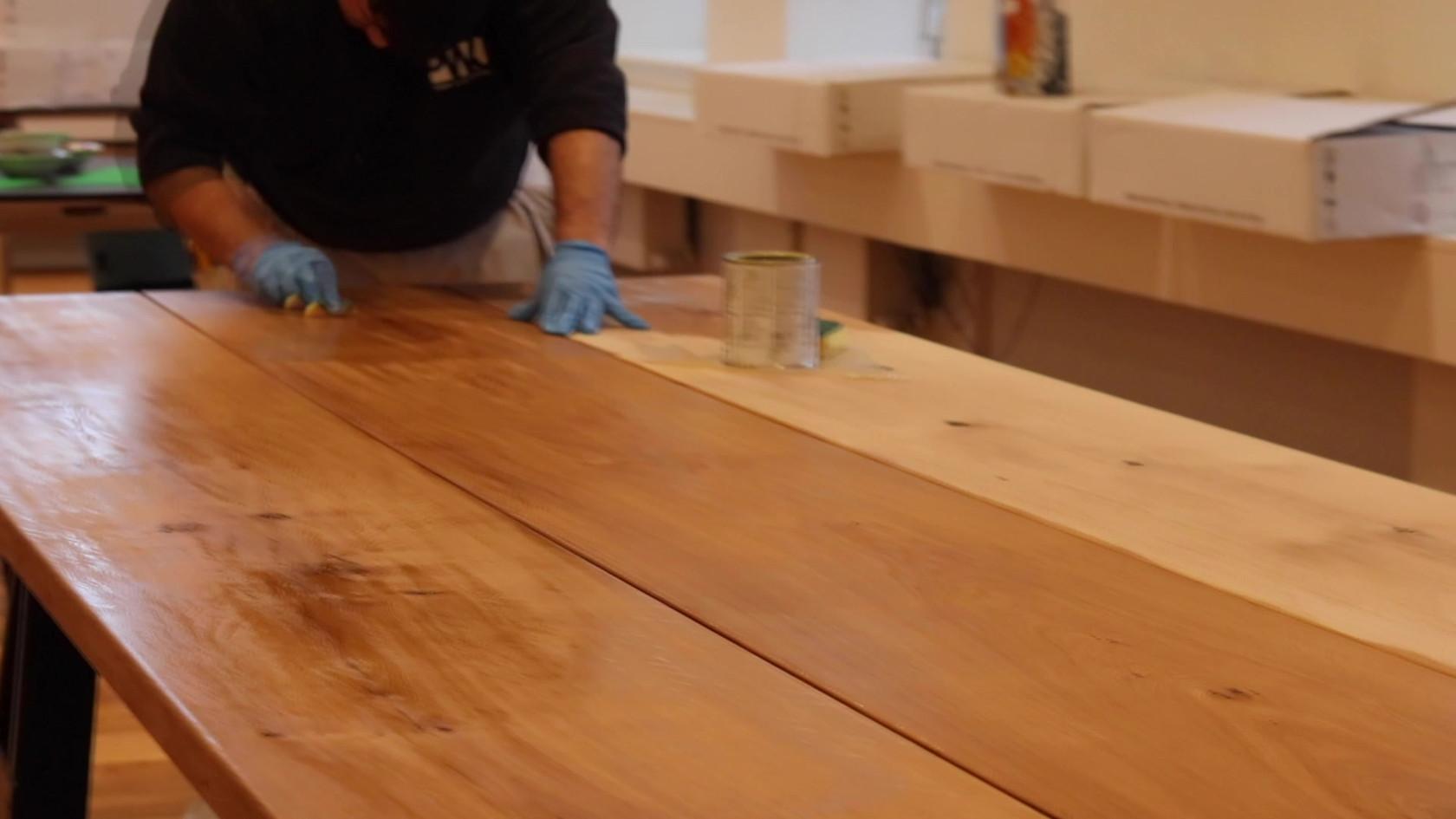 Plankeborde i Rosenhuset
