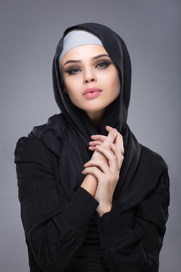 Woman in a Muslim headscarf hijab.jpg