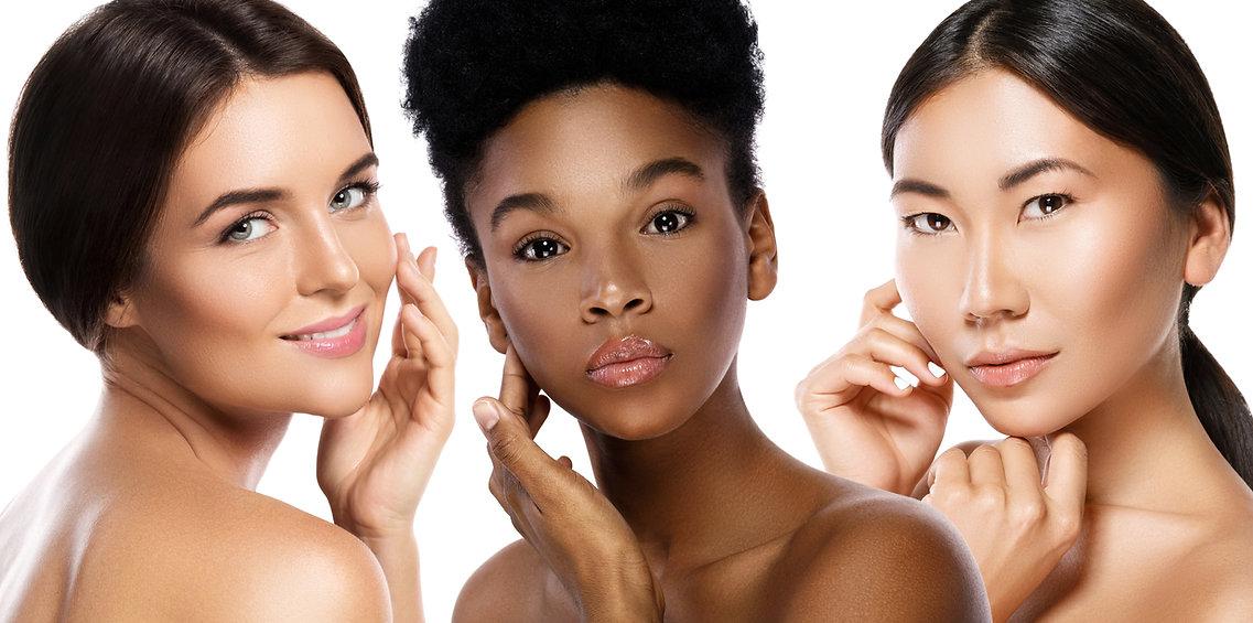Multi-Ethnic beauty or interracial frien