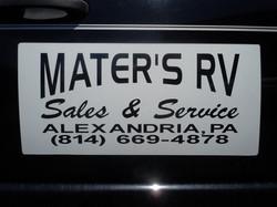 Vinyl Lettered Car Mag