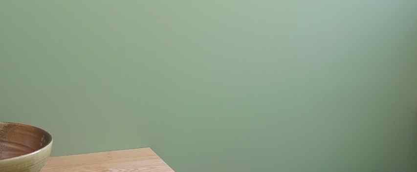 腰壁下のタイルだった部分は解体してペンキを塗りました。この色は裏葉色(うらはいろ)といいます。腰壁から上は珪藻土です。
