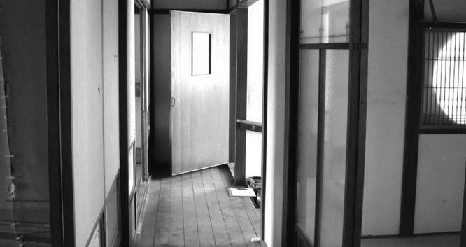 1Fの廊下だったところ。右手が家事室。